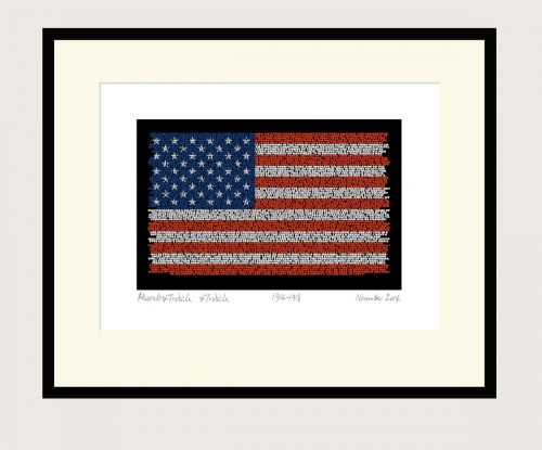 Martin Luther King Flag Print