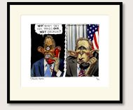 Steve Bell Bush & Blair print