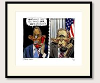 Steve Bell Bush & Blair print