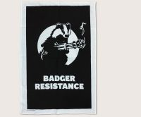 Badger Resistance tea towel