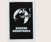 Badger Resistance tea towel