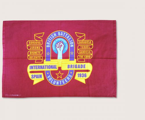 International Brigade British Battalion Banner tea towel