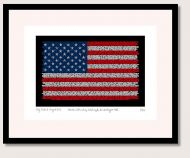 Martin Luther King Flag Print