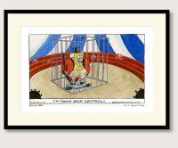 Steve Bell Clown Johnson print