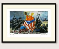Steve Bell Trump after Delacroix print