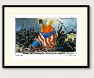 Steve Bell Trump after Delacroix print