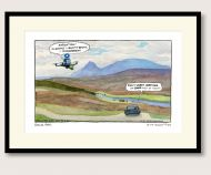 Steve Bell Her Majesty in Lockdown print