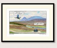 Steve Bell Her Majesty in Lockdown print