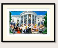 Steve Bell Trump Family White House print