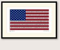 Bob Dylan Fifty Songs framed print