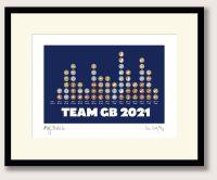 Great British Medallists Tokyo 2021 framed print
